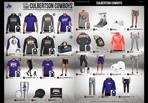 Culbertson gear from the FanCloth fundraiser to support CHS Music